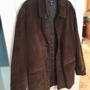 Men's J.Crew Brown Suede Leather Jacket